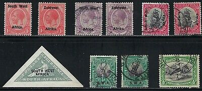 South West Africa - Nice Group of Old Stamps, ...............# 0208