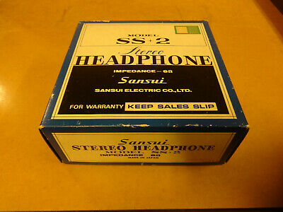 Boxed Vintage Headphone Sansui Model Ss + 2 In Near Mint Condition