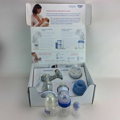Avent Naturally ISIS Manual Hand Breast Pump Bottles Plastic Breastpump Baby