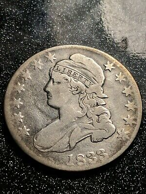 1833 Capped Bust Half Dollar 50C O-105 VF