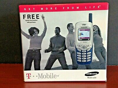 Vintage Samsung SGH C225 Welcome/User Guides, Hands-Free Headset, Charger, More