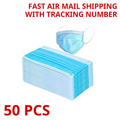 50 PCS Medical Surgical Disposable Face Mask 3-ply Coronavirus Protection