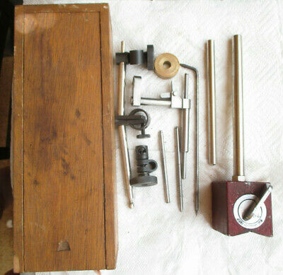 Magnetic Base With Wood Box and Accessories