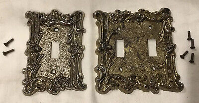 EDMAR Light Switch Plate Covers Single & Double Toggle Victorian Shabby Chic