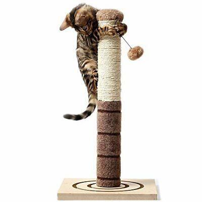 4 Paw Stuff Tall Cat Kittens Scratching Post InteractiveToys 22 inch Beige Toys