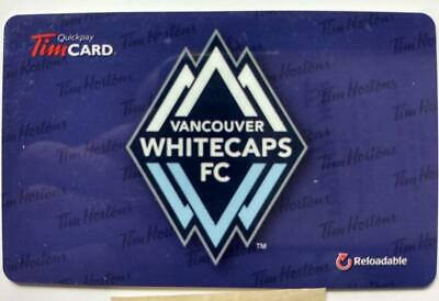 2015 TIM HORTONS GIFT CARD  ~VANCOUVER WHITECAPS ~FREE ship ~Unloaded ~Soccer