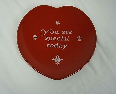 "Waechtersbach Germany You are Special Today 8"" Red Heart Plate Valentines"