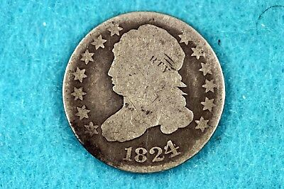 Estate Find 1824/2 - Capped Bust Dime!!!  #H11538
