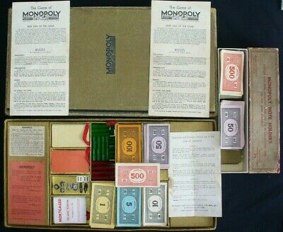 Rare Vintage Monopoly Super Gold 1936 First Edition 100% Complete Good Condition