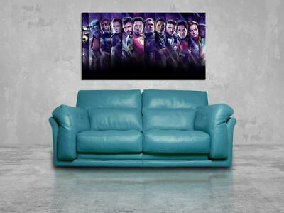 Avengers End Game CANVAS PRINT Wall Art Poster Marvel Super Heroes CA1238