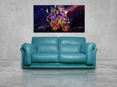 Avengers End Game CANVAS PRINT Wall Art Poster Marvel Super Heroes CA1239