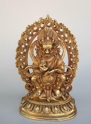 Exquisite pure brass the god of wealth Buddha crafts statue