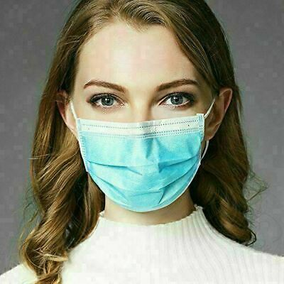 50 PCS Disposable Face Mask Medical Surgical Dental Earloop Anti-Dust 3-Ply