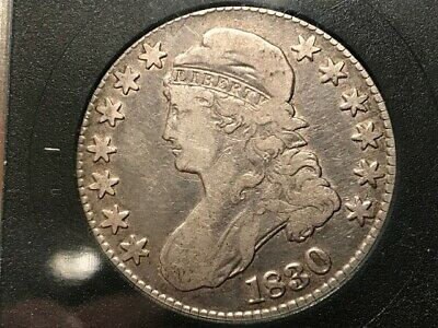1830 Capped Bust Silver Half Dollar Coin