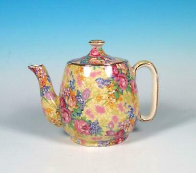 Royal Winton Grimwades Welbeck English Chintz Countess Breakfast Teapot 1930s