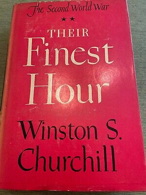 Vintage Their Finest Hour by Winston Churchill Hardcover with DJ BOMC 1949