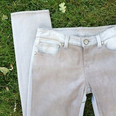 Elie Tahari Grey Front Leather Jeans US womens skinny leg size 2