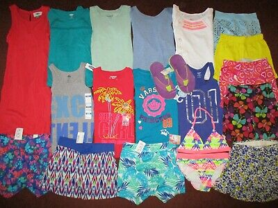 Girls HUGE!!  Size 5 6 SPRING SUMMER & School Clothing Lot OLD NAVY TCP NEW