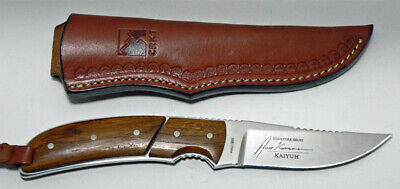 CRKT Model 2830 Kommer Signature Straight Fixed Blade Knife and Leather Sheath