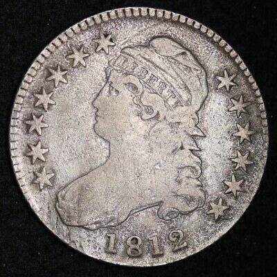 1812 Capped Bust Half Dollar CHOICE FINE FREE SHIPPING E335 KMT