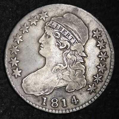 1814 Capped Bust Half Dollar CHOICE VF FREE SHIPPING E336 KCET
