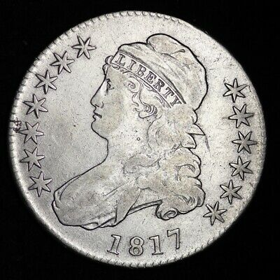 1817 Capped Bust Half Dollar CHOICE FINE+/VF FREE SHIPPING E339 RCTM
