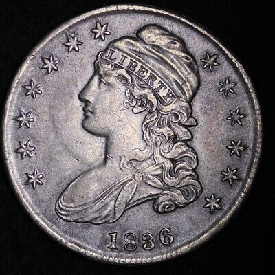 1836 Capped Bust Half Dollar CHOICE XF FREE SHIPPING E354 T