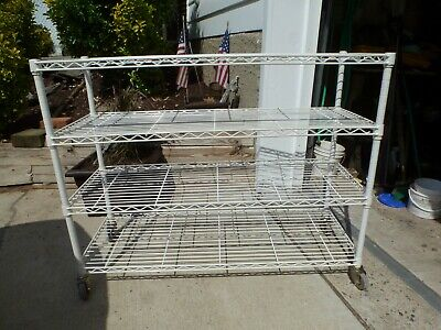 InterMetro Rolling Bakers Rack-Steel Construction, Industrial Casters. Used