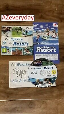 Wii SPORTS & Resort 2 in 1 Combo Nintendo Wii_2 games on 1 disc u_RARE  -  PAL