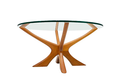 Danish Teak and Glass Coffee Table by Illum Wikkelso 60s