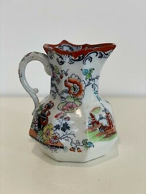 Original c1850 Masons ironstone jug. Beautiful painted scenes