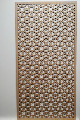 Radiator Cabinet Decorative Screening Perforated 3mm & 6mm thick MDF laser cutE1