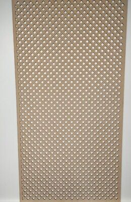 Radiator Cabinet Decorative Screening Perforated 3mm & 6mm thick MDF laser cutD7