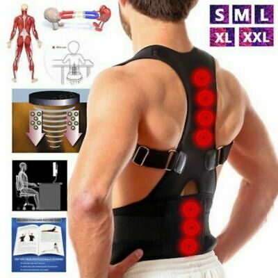 Therapy Back Lumbar Brace Spine Support Belt Posture Correction For Men Women US