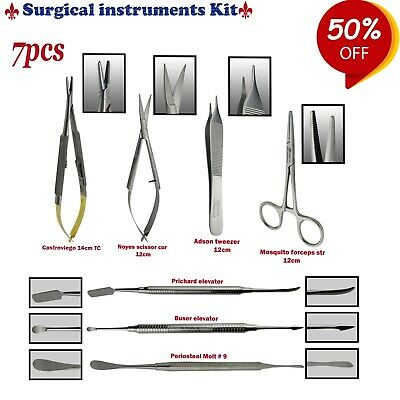 Periodontal Micro Surgery Kit Buser Castroviejo Needle holder Molt 9 TK PLUS
