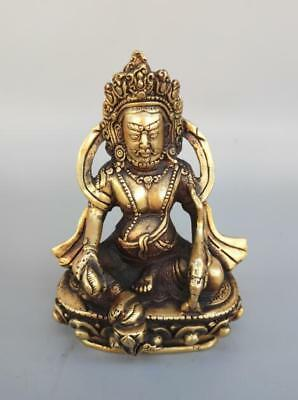 Exquisite pure brass god of wealth Buddha crafts statue