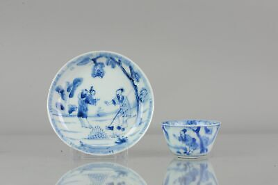 Lovely Antique Kangxi Period Chinese Porcelain Cup Woman Holding a Child...