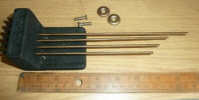 "Set of No 25 Westminster Chime Rods Block 2"" high longest rod 8 3/4"" end to end"