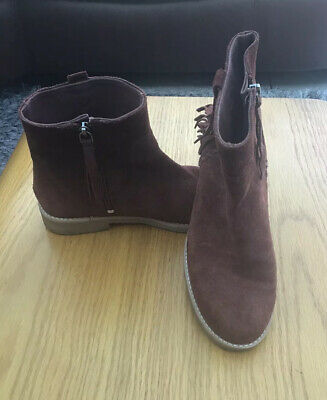 Zara Girls Brown Ankle Boots Size 2.5