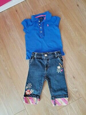 Girls ralph lauren polo and sketchers jeans - aged 3