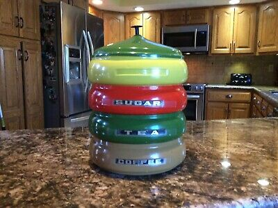 Vintage Canister Set. Very Nice   13''