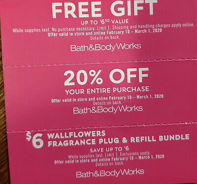 Bath & Body Works Coupons Exp 3/01/20