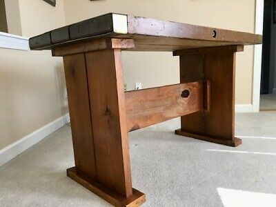 Vintage WWII Liberty Ship Wooden Hatch Cover Table