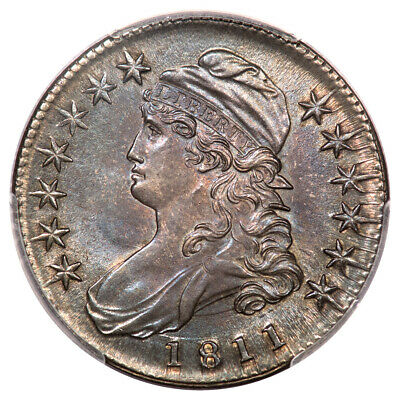 1811 50C Small 8 Capped Bust Half Dollar PCGS MS63 O-111A CAC