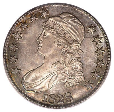 1828 50C Square 2, Large 8 Overton 108 Capped Bust Half Dollar PCGS MS63 CAC ...