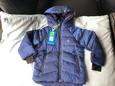 BNWT Boys Ted Baker Shiny Blue Down Feathers Padded Winter Coat , Size 5 years