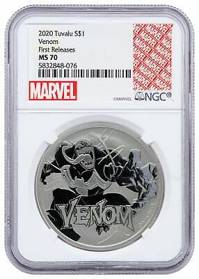 2020 Tuvalu Venom 1 oz Silver Marvel Series $1 Coin NGC MS70 FR Marvel SKU60635