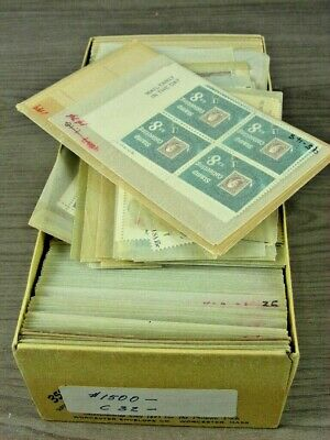 US, Excellent Assortment of MINT Stamps(singles, blocks) in 300+ glassines