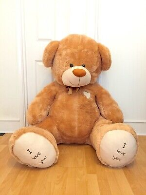 "Giant 'I Love You' Teddy Bear 5'5"" Valentines Day Gift Huge Big For Her For Him"