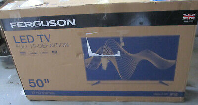 """FERGUSON 50 Inch Full HD LED TV with Freeview HD, 3 x HDMI """"For parts only"""""""